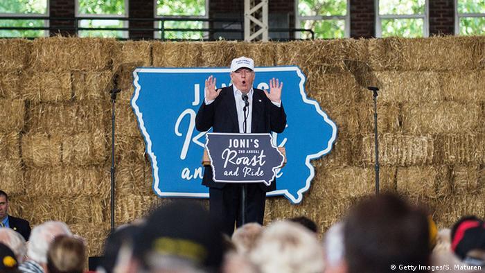 USA Präsidentschaftswahlkampf Donald Trump in IoWA