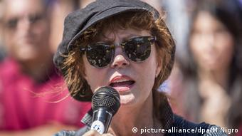 Activist and actor Susan Sarandon speaking at the site last week