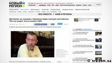 *** Nur für aktuelle Beichterstattung Tod Alexander Shchetinin *** Screenshot http://nr2.com.ua/News/Kiev_and_regions/SHCHetinin-na-granice-s-Krymom-lyudi-smotryat-rossiyskoe-TV-i-ne-vidyat-chast-nashih-SMI-122739.html (c) nr2.com.ua