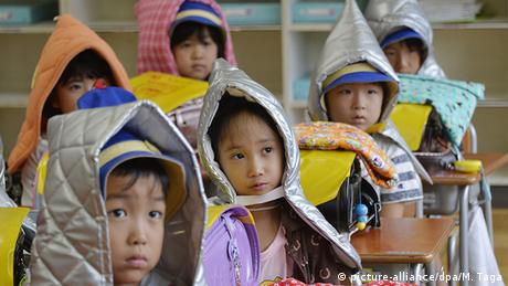 Japan earthquake hoods for children