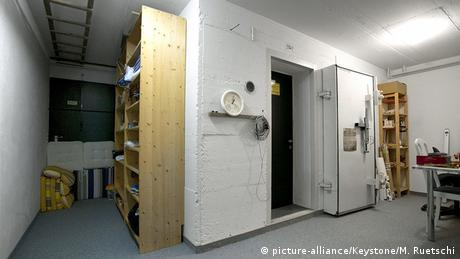 Switzerland home nuclear bunker