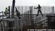 Singapur Baustelle Bauarbeiter
