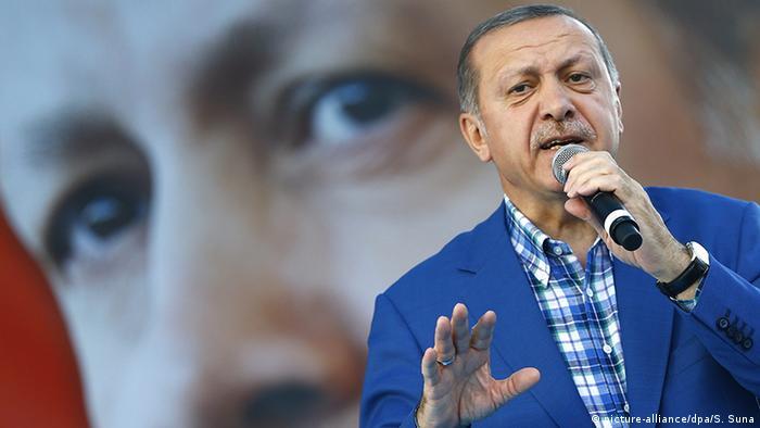 Türkei Großkundgebung in Gaziantep mit Präsident Erdogan (picture-alliance/dpa/S. Suna)