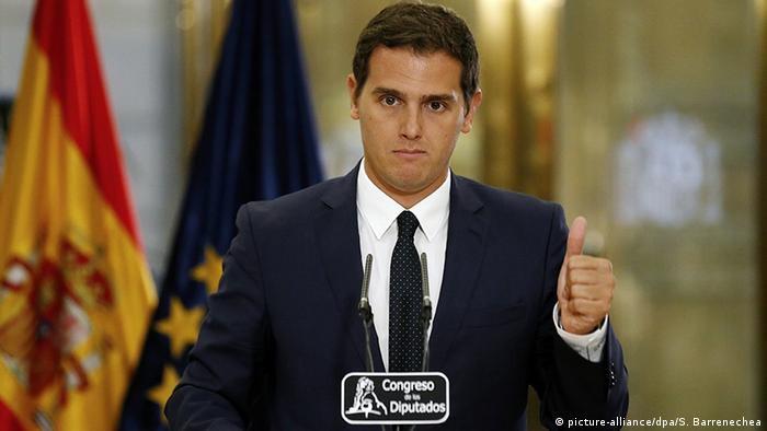 Spanien Vertrauensvotum Albert Rivera (picture-alliance/dpa/S. Barrenechea)
