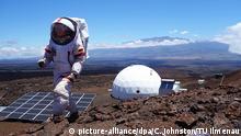 ***ACHTUNG: Nur zur redaktionellen Verwendung im Zusammenhang mit der aktuellen Berichterstattung.*** HANDOUT - Auf einem undatierten Handout ist die Wissenschaftlerin Christiane Heinicke bei einer simulierte Marsmission auf Hawaii zu sehen. Big Brother für die Wissenschaft: Ein Jahr lang hat die Geophysikerin Christiane Heinicke auf einem Vulkan wie auf dem Mars gelebt. Worauf freut sie sich am meisten? Foto: Carmel Johnston/TU Ilmenau (zu dpa «Sehnsucht nach Tomaten - einjähriges Mars-Experiment zu Ende» vom 26.08.2016 - ACHTUNG: Nur zur redaktionellen Verwendung im Zusammenhang mit der aktuellen Berichterstattung und nur bei Nennung: «Foto: Carmel Johnston/TU Ilmenau») +++(c) dpa - Bildfunk+++ Copyright: picture-alliance/dpa/C. Johnston/TU Ilmenau