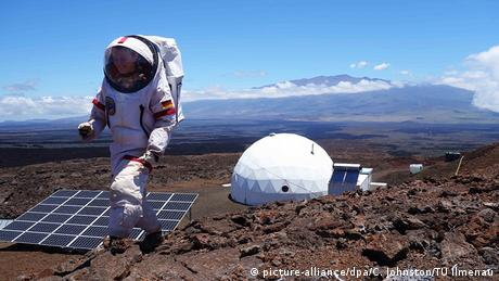 NASA Simulation einer Marsstation auf Hawaii (picture-alliance/dpa/C. Johnston/TU Ilmenau)