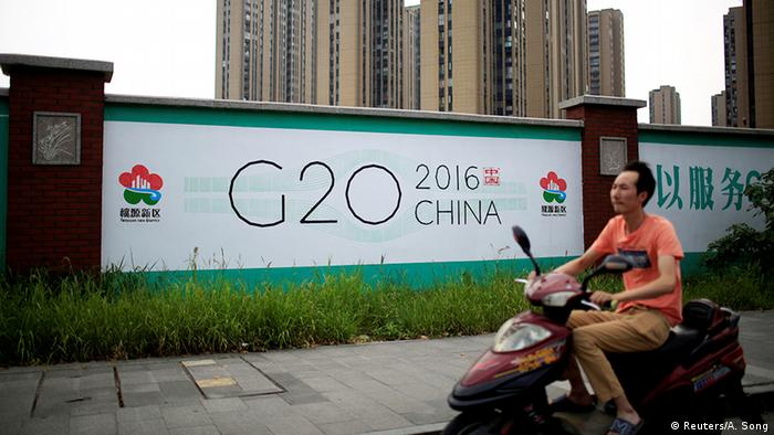 China G20 Vorbereitungen Billboard