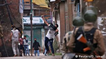 Indien Proteste in Srinagar