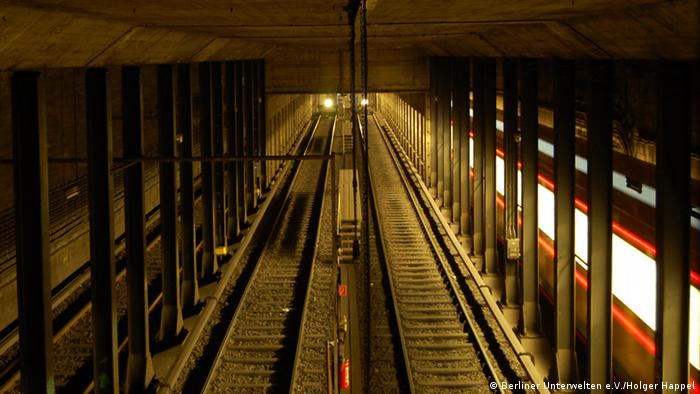 Туннель метро около станции Гезундбруннен