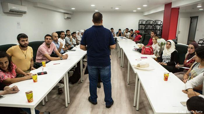 A community engagement session at Baytna Syria headquarters in Gaziantep
