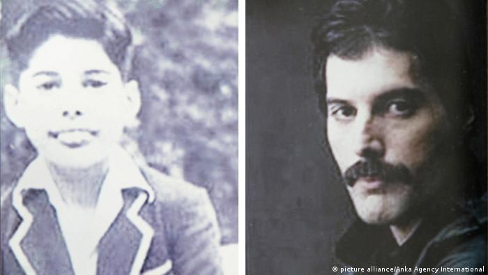 Bildkombo Freddie Mercury, zwei alte Fotos (Quelle: dpa)