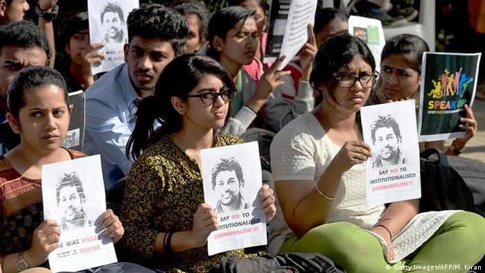 Indien Demonstration Student Rohit Vemula Selbstmord