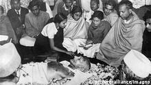Indien Aufbahrung Mahatma Gandhi
