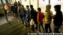 Deutschland Transitflüchtlinge in Rostock