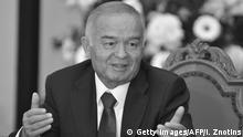 Usbekistan Präsident Islom Karimov - Schwarz-Weiß-Bild