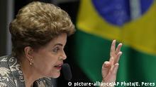 Brasilien Senat - Amtsenthebungsverfahren, Rede Dilma Rousseff