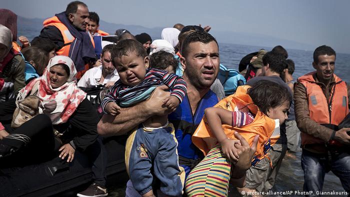 Griechenland Ankunft Syrische Flüchtlinge