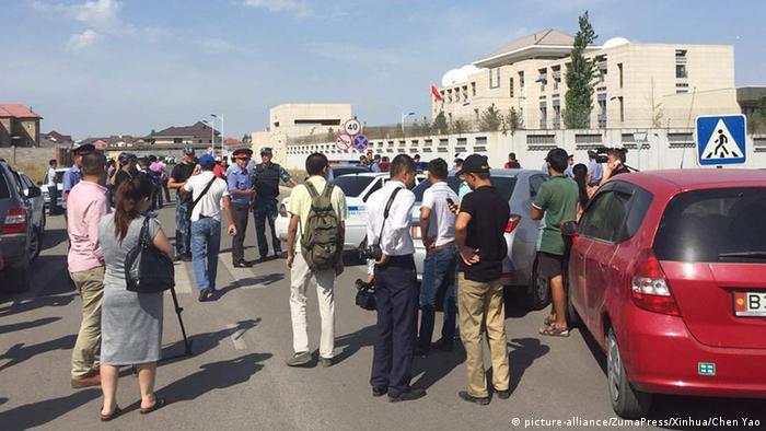 Бишкек, возле здания посольства Китая 30 августа