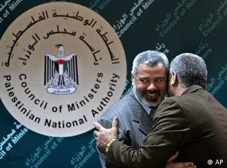 The new Hamas government under Ismail Haniyeh must honor previous accords, EU says