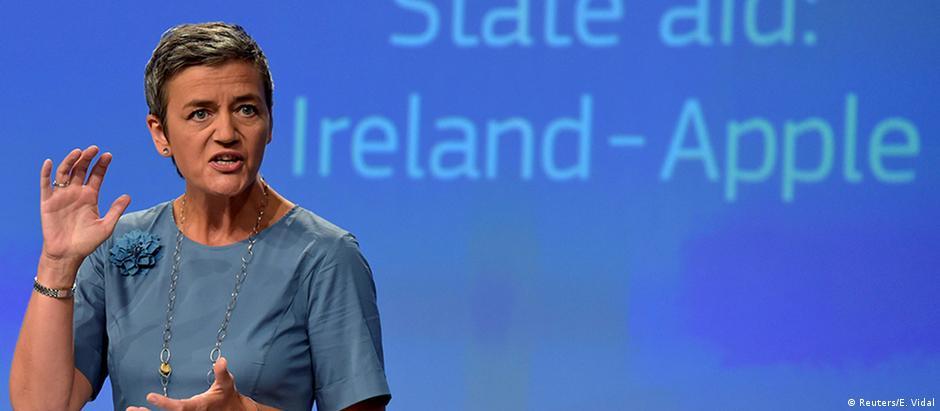 """Comissária de Concorrência da UE, Margrethe Vestager: """"Membros não podem conceder benefícios fiscais a empresas seletas"""""""