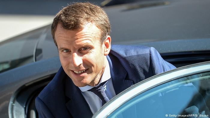 Frankreich Wirtschaftsminister Emmanuel Macron (Getty Images/AFP/S. Bozon)