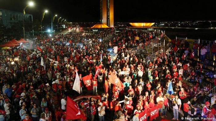 Brasilien Proteste pro Dilma Rousseff