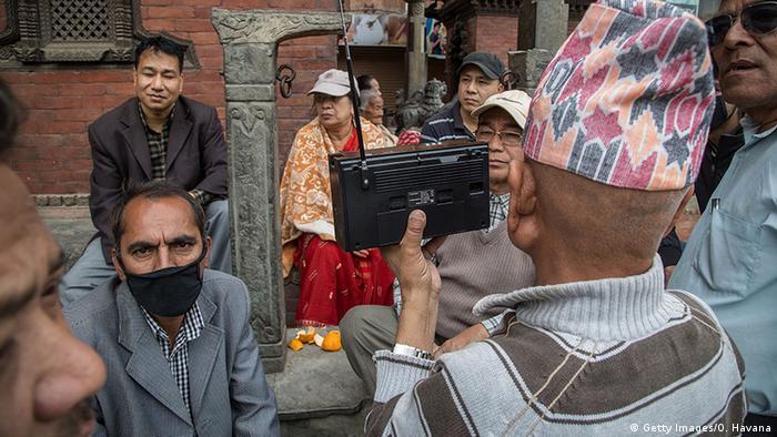 Nepal Kathmandu Radiohörer Erdbeben 2015