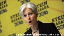 19.08.2016 Jill Stein bei einer Wahlkampfrede im Hotel Holiday Inn Lower East Side. New York, 19.08.2016 (c) picture-alliance/Geisler-Fotopress/D. Van Tine