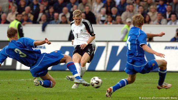 Deutschland - Russland 2005 Bastian Schweinsteiger