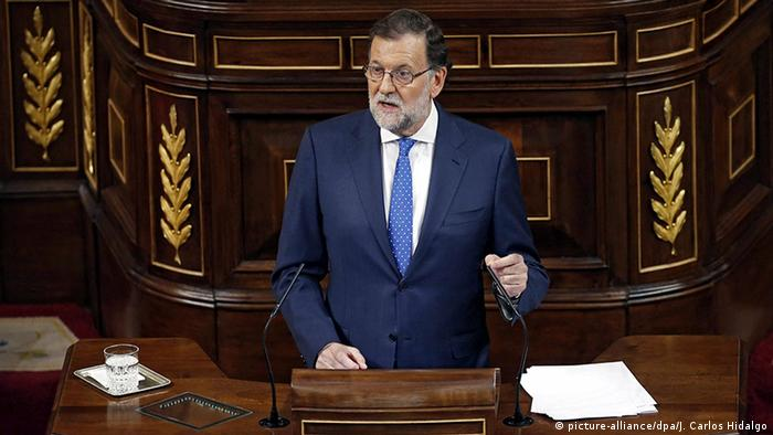 Spanien Madrid Mariano Rajoy Rede De Investiture Debatte