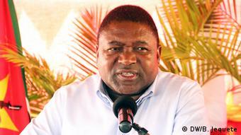 Mosambik Präsident Filipe Nyusi (DW/B. Jequete)