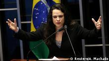 Brasilien Senat - Amtsenthebungsverfahren Dilma Rousseff Janaina Paschoal