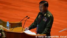 Myanmar Friedensgespräche in Naypyidaw - General Min Aung Hlaing