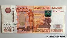 Russland Moskau Rentner Rubel
