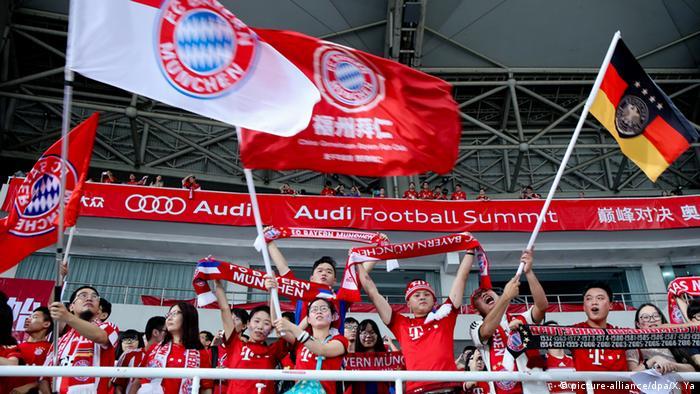China Shanghai chinesische FC Bayern München Fans