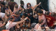 Spanien Festivals Tomatenschlacht in Bunol