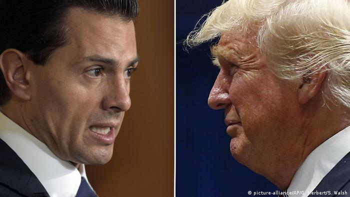 Bildkombo Enrique Pena Nieto Donald Trump (picture-alliance/AP/G. Herbert/S. Walsh)