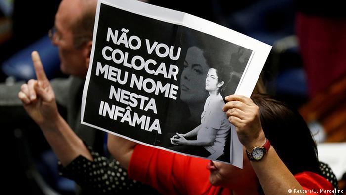 Brasilien Amtsenthebungsverfahren Dilma Rousseff Protest