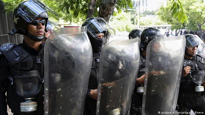 El Salvador Polizeieinsatz
