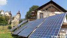 Solaranlage im Dorf Waryasz