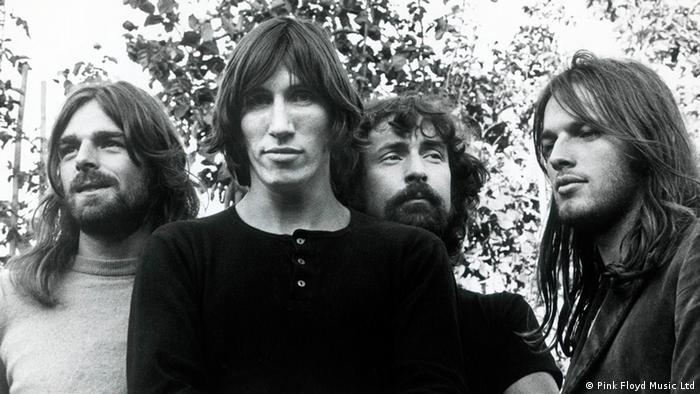 Die vier Mitglieder von Pink Floyd: Richard Wright, Roger Waters, Nick Mason und David Gilmour