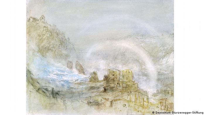 William Turner's view of the Rhine River Copyright: Depositum Sturzenegger-Stiftung, Museum zu Allerheiligen Schaffhausen