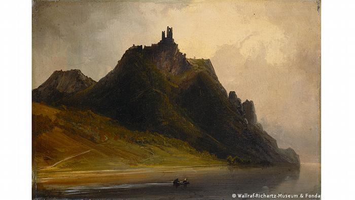 Caspar Johann Nepomuk Scheuren's painting of Drachenfels, Copyright: Rheinisches Bildarchiv Köln