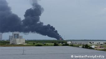 Twitter Mutmaßliche SpaceX Rakte explodiert (twitter/PointyEndUp)