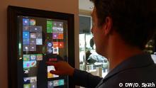 Das Bild zeigt den Touchscreen des Dirror. Copyright: DW/D. Späth
