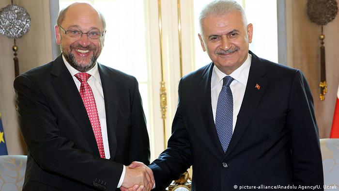 Türkei Ankara - Martin Schulz & Binali Yildirim