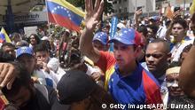 Oppositionsführer Henrique Capriles bei einer Kundgebung Anfang September in der Hauptstadt Caracas