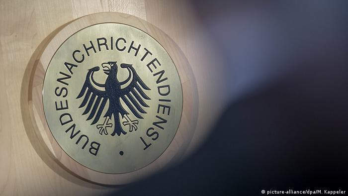 Das Siegel des Bundesnachrichtendienst (BND) (picture-alliance/dpa/M. Kappeler)