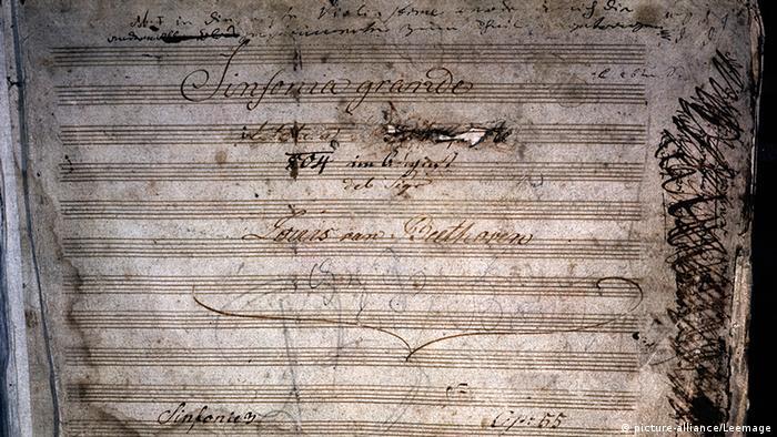Beethoven Partitur der Dritten Sinfonie
