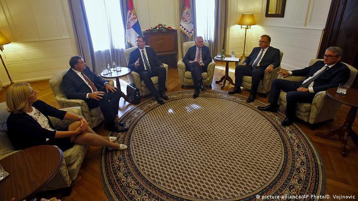Serbien Treffen Vucic, Nikolic und Dodik